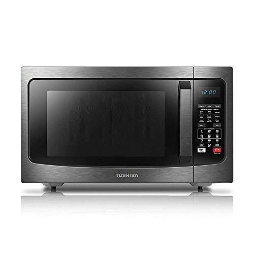 Toshiba EC042A5C-BS microwave oven, 1.5Cu.ft, Black Stainless Steel - PHUNUZ