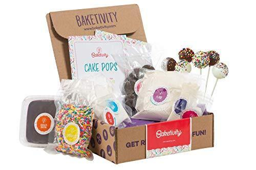 BAKETIVITY Kids Baking DIY Activity Kit - Bake Delicious Cake Pops with Pre-Measured Ingredients – Best Gift Idea for Boys and Girls Ages 6-12 - PHUNUZ