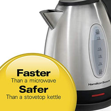 Load image into Gallery viewer, Hamilton Beach Electric Tea Kettle, Water Boiler & Heater, 1.7 L, Cordless, Auto-Shutoff and Boil-Dry Protection, Stainless Steel (40880)