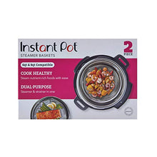 Load image into Gallery viewer, Instant Pot Official Mesh Steamer Baskets, Set Of 2, Stainless Steel