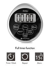 Load image into Gallery viewer, dretec Digital timer, Water proof, Shower, Magnetic backing, Silver, Black, Officially Tested in Japan (1 starter Lithium battery included)