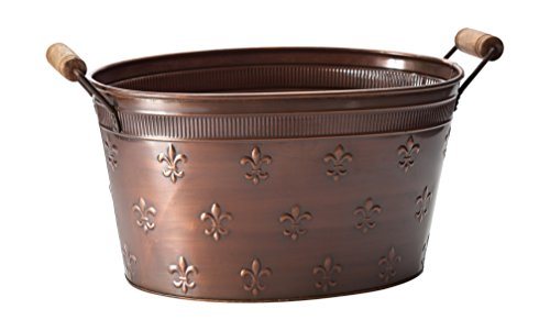 KINDWER Copper Fleur De Lis Oval Tub, Large/22
