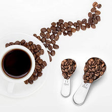 Load image into Gallery viewer, 4 Packs Coffee Scoop, 2 Tablespoon and 1 Tablespoon Stainless Steel Coffee Measuring Spoons for Ground Coffee