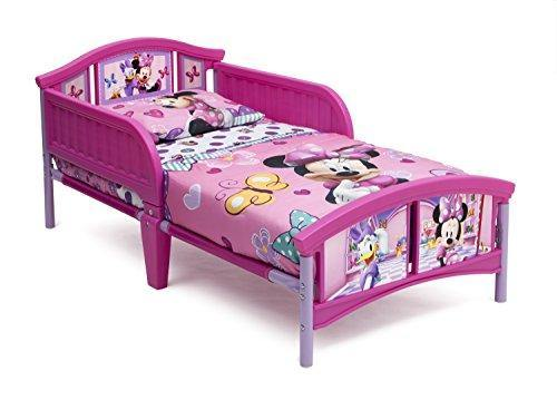 Delta Children Plastic Toddler Bed, Disney Minnie Mouse - PHUNUZ