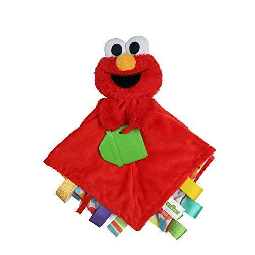 Bright Starts Sesame Street Snuggles with Elmo Baby's First Soothing Blanket, Ages 0-12 Months - PHUNUZ