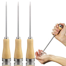 Load image into Gallery viewer, Fireboomoon 3 Pack Stainless Steel Ice Pick with Safety Wooden Handle for Home Kitchen Restaurant Bar(8.5 Inches)