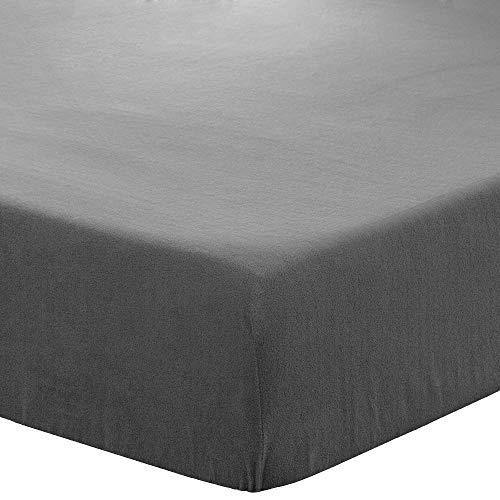 Bare Home Super Soft Fleece Fitted Sheet - Twin Size - Extra Plush Polar Fleece, Pill Resistant - Deep Pocket - All Season Cozy Warmth, Breathable & Hypoallergenic (Twin, Grey) - PHUNUZ
