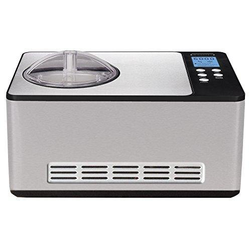 Whynter ICM-200LS Automatic Ice Cream Maker 2 Quart Capacity Stainless Steel, Built-in Compressor, no pre-freezing, LCD Digital Display, Timer, 2.1 - PHUNUZ