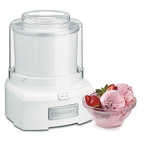 Cuisinart 1.5 Quart Frozen Yogurt ICE-21P1 Ice Cream Maker, Qt, White - PHUNUZ