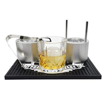 Load image into Gallery viewer, Brushed Aluminum Pressice Barware Ice Ball Press Kit - Effortlessly Make Giant Ice Balls - Includes Ice Press, Tongs, Whiskey Glass, Bar Mat and Ice Mold - Made in the US