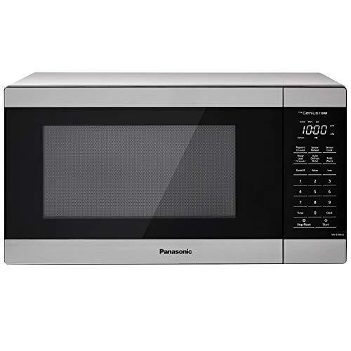 Panasonic NN-SU66LS Countertop Microwave Oven, 1100W with Genius Sensor Cook and Auto Defrost, 1.3 cft, Stainless Steel - PHUNUZ