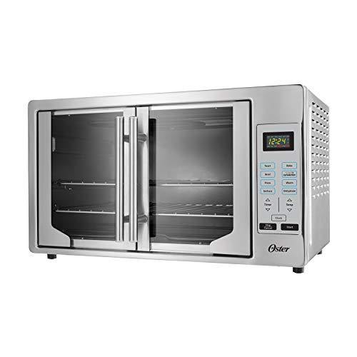 Oster French Convection Countertop and Toaster Oven | Single Door Pull and Digital Controls | Stainless Steel, Extra Large - PHUNUZ