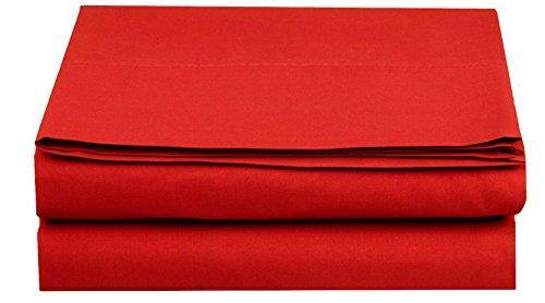 Elegant Comfort Luxury Fitted Sheet on Amazon Wrinkle-Free 1500 Thread Count Egyptian Quality 1-Piece Fitted Sheet, Twin/Twin XL Size, Red - PHUNUZ