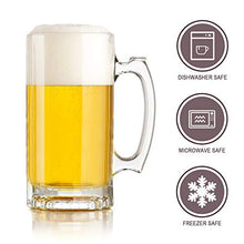 Load image into Gallery viewer, Beer Mugs Set,Glass Mugs With Handle 16oz,Large Beer Glasses For Freezer,Beer Cups Drinking Glasses 500ml,Pub Drinking Mugs Stein Water Cups For Bar,Alcohol,Beverages Set of 8 KTZB02…