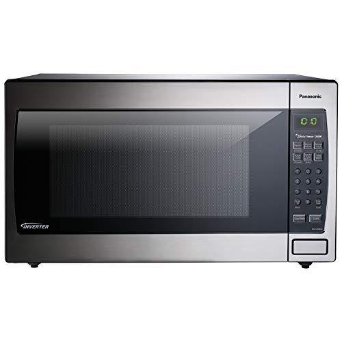 Panasonic Microwave Oven NN-SN966S Stainless Steel Countertop/Built-In with Inverter Technology and Genius Sensor, 2.2 Cubic Foot, 1250W - PHUNUZ