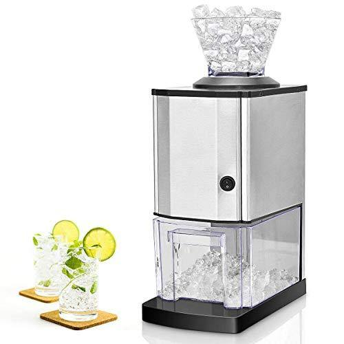 Nightcore Electric Ice Crusher, Ice Shaved Machine with Stainless Steel, Ice Shaver Idea for Home, Party and Gathering - PHUNUZ