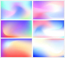 Load image into Gallery viewer, AI vector creative fashion geometric gradient background plate of banner advertising poster page UI interface template 0253