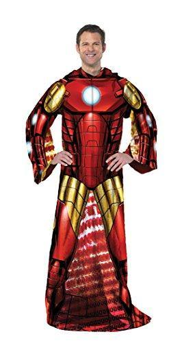 Marvel Comfy Throw Blanket with Sleeves, Adult-48 x 71 Inches, Being Iron Man - PHUNUZ