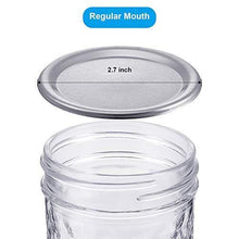 Load image into Gallery viewer, 24 Pieces Regular Mouth Canning Jar Lids Leak Proof Storage Jar Caps Round Bottle Caps Compatible with Regular Size Mason Jars (Silver) - PHUNUZ
