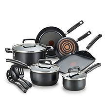 Load image into Gallery viewer, T-fal Signature Nonstick Dishwasher Safe Cookware Set, 12-Piece, Black
