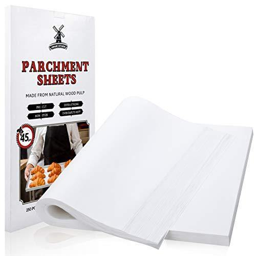 Hiware 250 Pcs Parchment Paper Sheets for Baking, 12 X 16 In, Fit for Half Sheet Pans, Precut Non-Stick Parchment Paper for Baking, Cooking, Grilling, Air Fryer and Steaming - 333 Sq.ft - PHUNUZ