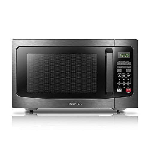 Toshiba EM131A5C-BS Microwave Oven with Smart Sensor, Easy Clean Interior, ECO Mode and Sound On/Off, 1.2 Cu.ft, Black Stainless Steel - PHUNUZ