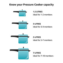 Load image into Gallery viewer, Hawkins CB30 Hard Anodised Pressure Cooker, 3-Liter, Contura Black