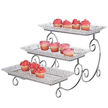 Load image into Gallery viewer, James Scott Crystal 3 Tier Rectangle Server