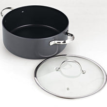 Load image into Gallery viewer, Cooks Standard Lid 7 Quart Hard Anodized Nonstick Dutch Oven Casserole Stockpot, Black