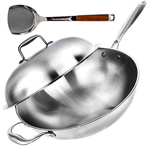 Wok Pan with Lid - 13