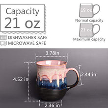 Load image into Gallery viewer, Bosmarlin Large Ceramic Coffee Mug, Big Tea Cup for Office and Home, 21 Oz, Dishwasher and Microwave Safe, 1 PCS