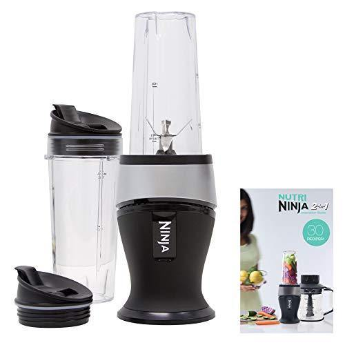Ninja Personal Blender for Shakes, Smoothies, Food Prep, and Frozen Blending with 700-Watt Base and (2) 16-Ounce Cups with Spout Lids (QB3001SS) - PHUNUZ