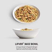 Load image into Gallery viewer, LIFVER Serving Bowls, 36 Ounces Large Cereal Bowls, Porcelain Salad Bowls Set for Salad, Cereal, Dessert, Set of 4, White, Dishwasher & Microwave Safe