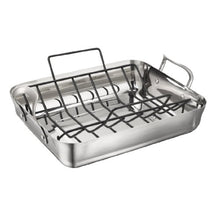 Load image into Gallery viewer, Calphalon Contemporary 16-Inch Stainless Steel Roasting Pan with Rack