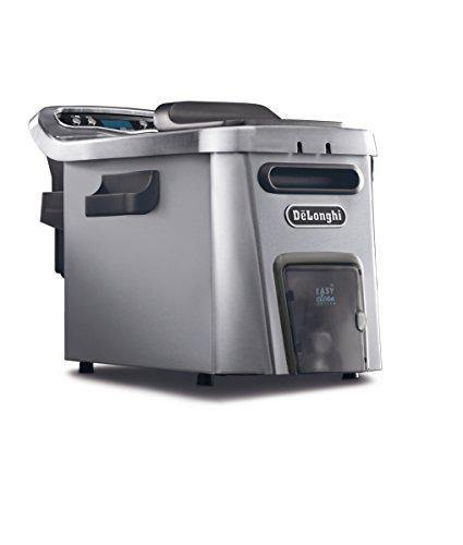 De'Longhi Livenza Dual Zone Easy Clean Deep Fryer, 18 x 11 x 12.5 inches, Silver - PHUNUZ