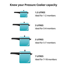 Load image into Gallery viewer, HAWKINS Futura Hard Anodised Pressure Cooker, 5 L, Black