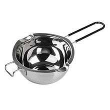Load image into Gallery viewer, 700ML Stainless Steel Double Boiler Pot with Heat Resistant Handle for Melting Chocolate, Candy and Candle Making, Large Capacity
