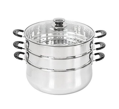 30 CM Stainless Steel 3 Tier Steamer Pot Steaming Cookware by Concord - PHUNUZ