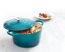 Load image into Gallery viewer, Crock Pot Artisan Round Enameled Cast Iron Dutch Oven, 5-Quart, Teal Ombre