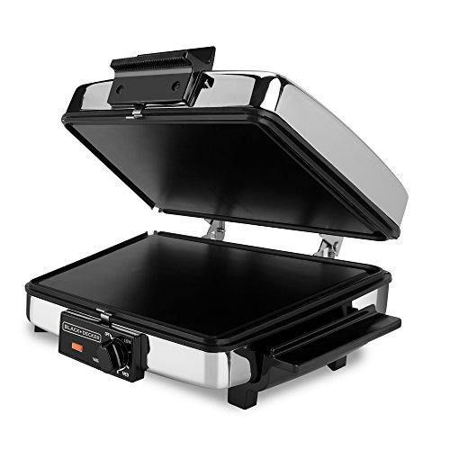 BLACK+DECKER 3-in-1 Waffle Maker with Nonstick Reversible Plates, Stainless Steel, G48TD - PHUNUZ