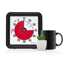 Load image into Gallery viewer, Time Timer - TTA1-W Original 8 inch 60 Minute Visual Timer — For Kids, Classroom Learning, Elementary Teachers Desk Clock, Homeschool Study Tool and Office Meetings with Silent Operation (Black)