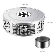 Load image into Gallery viewer, Simtive Teapot Warmer, Brushed Stainless Steel Tea Warmer with Tealight Holder