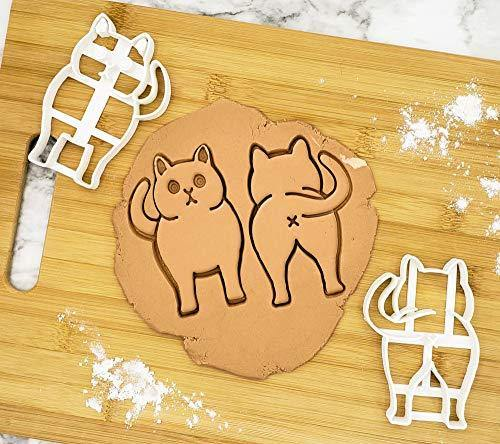 PoozyCatz - Chonky Kitty Cookie Cutter Set - 2 Pieces - Large 4