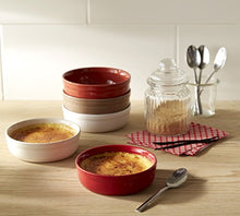 "Load image into Gallery viewer, Emile Henry Made in France 8.5 oz Creme Brulee (Set of 2), 5"" by 1.5"", Oak"