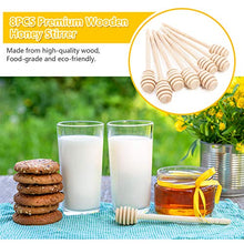 Load image into Gallery viewer, Honey Dipper Sticks - 6.3 Inch Premium Wooden Honeycomb Stick, 8Pcs Honey Stirrer Stick, Honey Sticks for Honey Jar Dispense Drizzle Honey and Wedding Party Gift