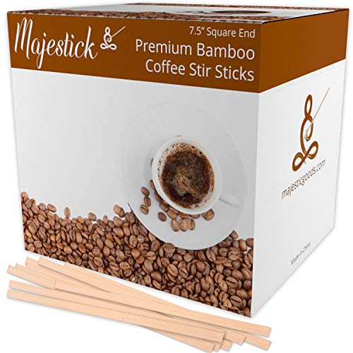 Majestick Goods Bamboo Wooden Coffee Stir Sticks 1000 Count | 7.5