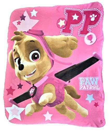 Paw Patrol Skye with Star Print Fleece Throw Blanket - PHUNUZ