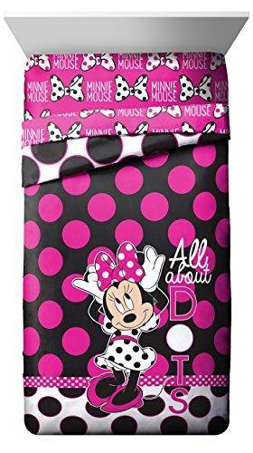 Disney Minnie Mouse All About The Dots Reversible Twin Comforter - PHUNUZ
