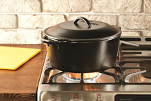 Load image into Gallery viewer, Lodge 5 Quart Cast Iron Dutch Oven. Pre-Seasoned Pot with Lid and Dual Loop Handle