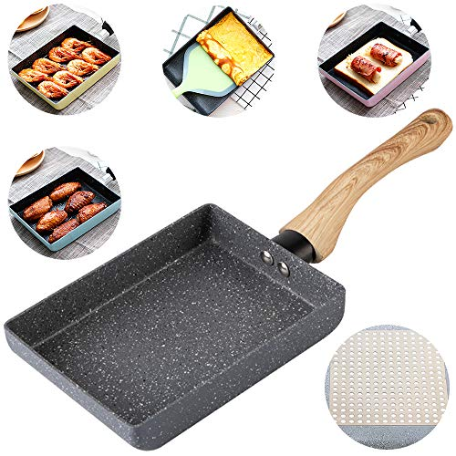 Tamagoyaki Japanese Omelette Pan/Egg Pan - Non-stick Coating - Rectangle Frying Pan Mini Frying Pan – Grey